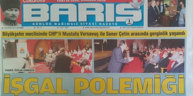 CHP'DE BÜFE VE KALDIRIM İŞGALİ TARTIŞMASI GAZETE MANŞETLERİNDE
